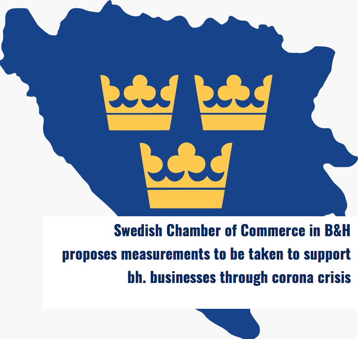 SweChamB&H proposes measurements for support of  bh businesses in corona crisis